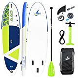 AKD Stand Up Paddle Gonflable Kayak 320x81x15cm Sup with Pompe Paddle Leash Sacs Complete Accessoires Planche Surf 2 Place 150kg Adulte Canoe(Sea Lions 10'6 '')