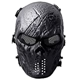 Fansport Airsoft Masque Tactique, Airsoft Masque de Visage en Plein Air Jeu Visage Masque Masque Facial Complet Masque