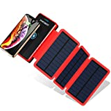 Powobest Solar Power Bank 20000Mah Portable Solar Charger, Waterproof Camping Gear Wireless Solar Phone Charger,Solar Battery Pack,Outdoor Power Bank With Led Light Flashlight …