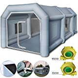 Machabeau Tente Camping Gonflable Tente Tunnel Camping (4x2.5x2.2m)